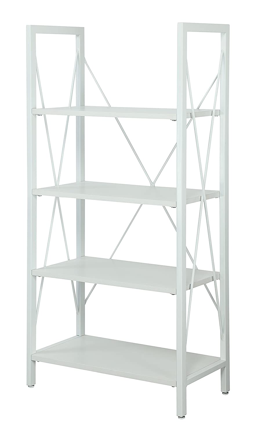 White Convenience Concepts Designs2Go Modern Carly Bookcase, White