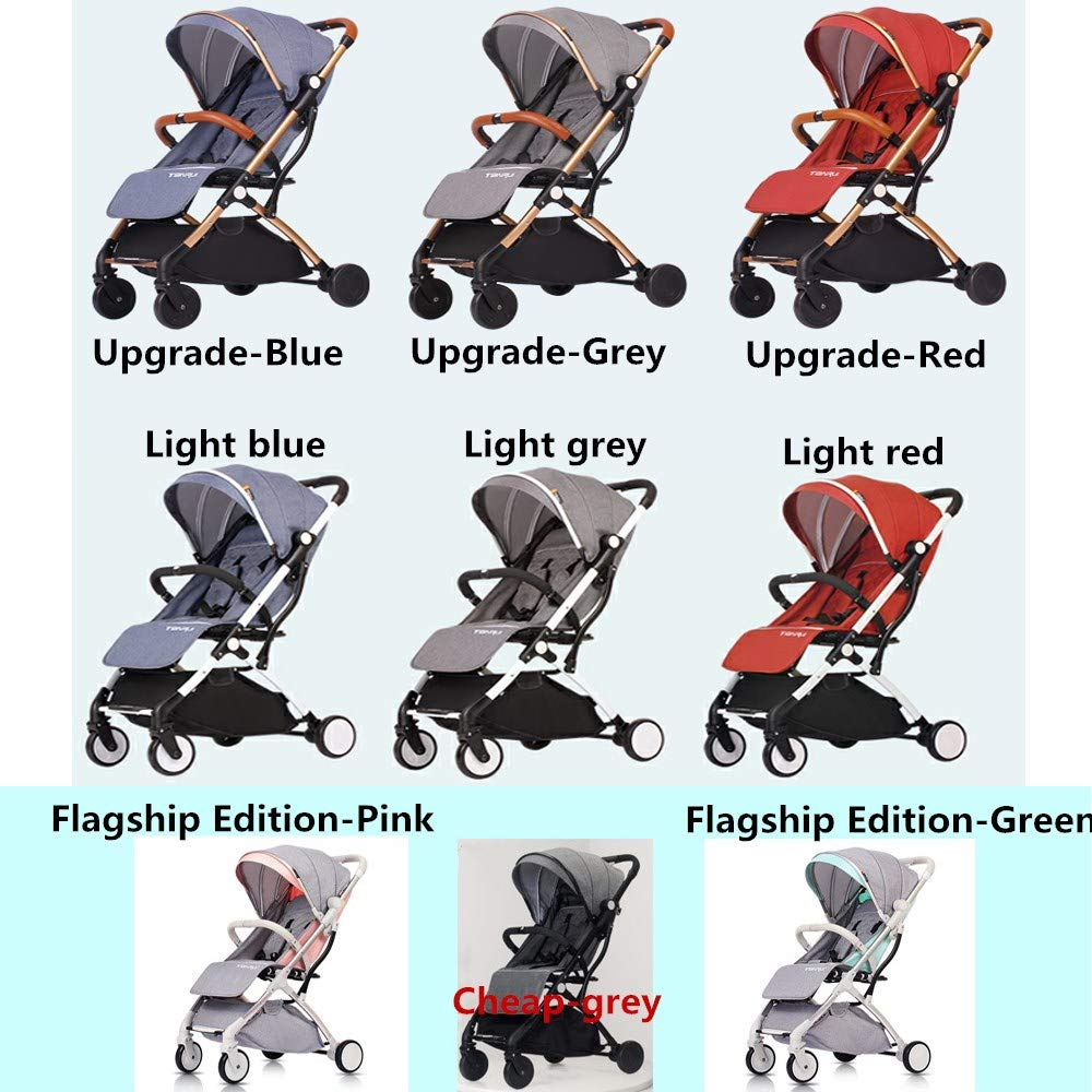 Tianrui Baby Cart. Lightweight, Neat, Compact, one-Step Folding Simple Aircraft Design. Seating and Lying (Upgrade-Grey)