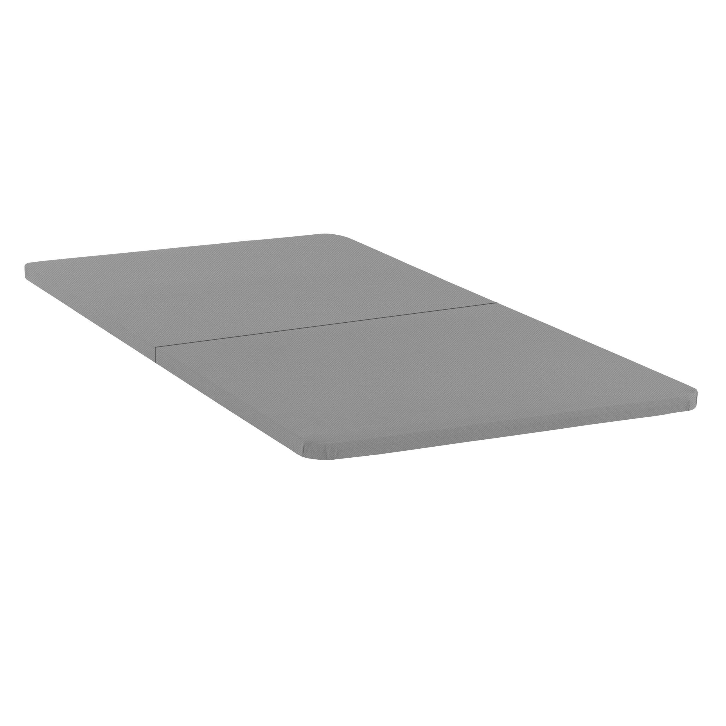 Spinal Solution 1.5-Inch Solid Wood Split Bunkie Board Mattress/Bed Support, Fits Standard Twin Grey