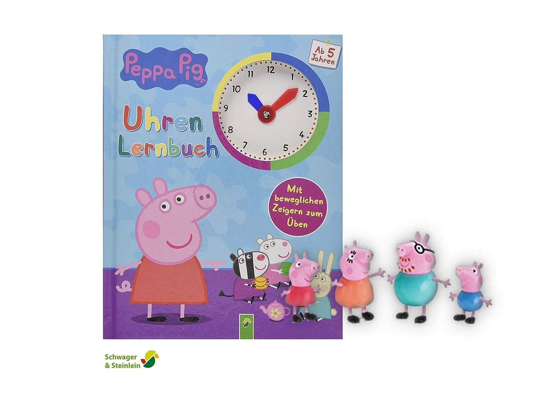 Mit beweglichen Zeigern zum /Üben Unbekannt Peppa Pig Uhrenlernbuch 1 Peppa Pig Spielfigur
