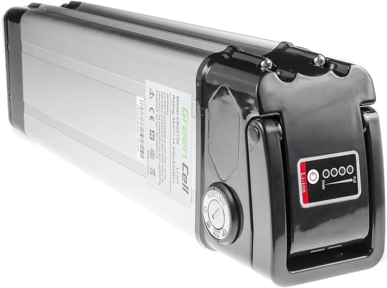 GC/® Batterie E-Bike 36V 10.4Ah V/élos /Électriques Pedelec Silverfish avec Chargeur et Cellules Panasonic Urban Arrow BMC Giant