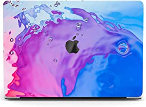 Wonder Wild Case Compatible with MacBook Air 13 inch Pro 15 2019 2018 Retina 12 11 Apple Hard Mac Protective Cover 2017 16 2020 Plastic Laptop Print Purple Stains Blue Abstract Watercolor Paint Pink