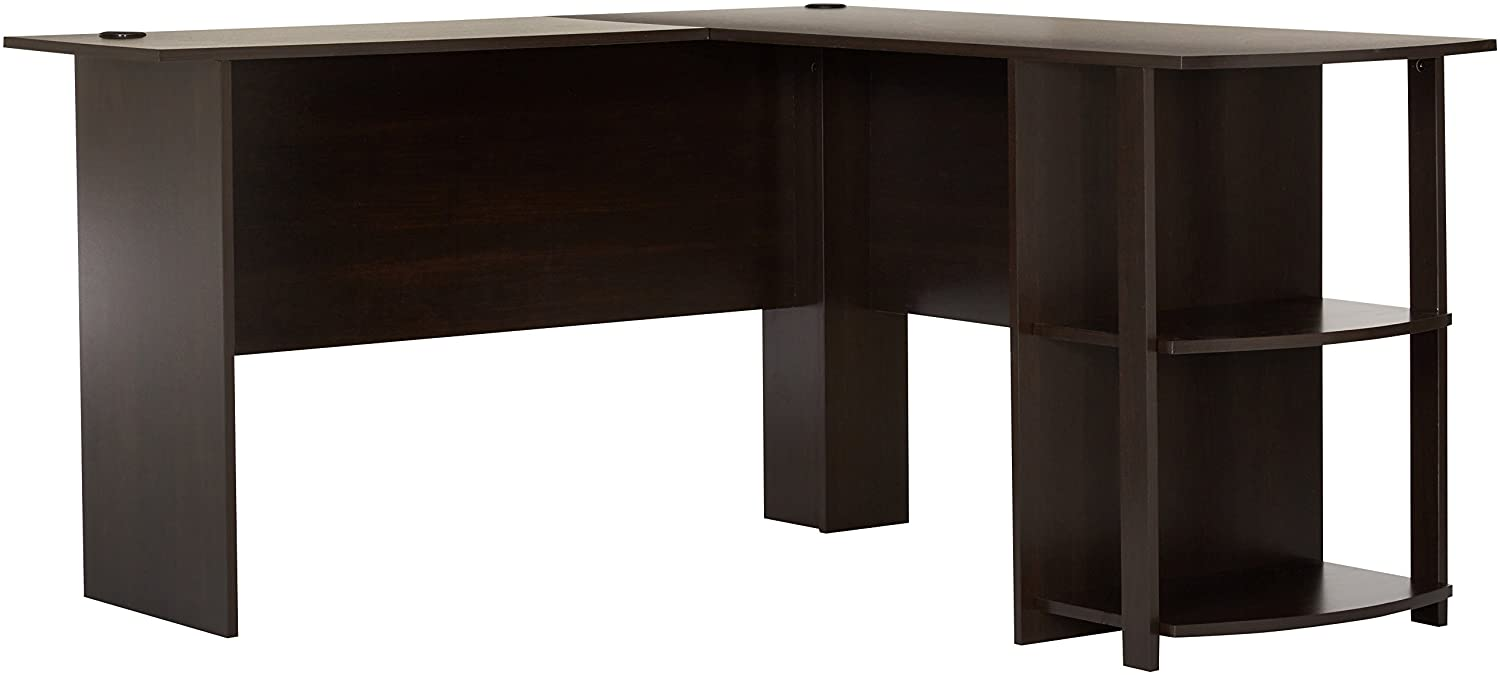 l shaped desk with bookshelve best computer desk