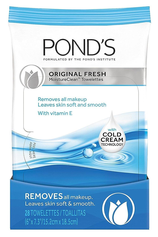 Ponds Towelettes Original Fresh 28 Count (30ml) (3 Pack) Pond' s