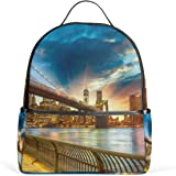JSTEL New York City Sunset School Backpack 4th 5th 6th Grade for Boys Teen  Girls Kids 0bc143f3e2afa