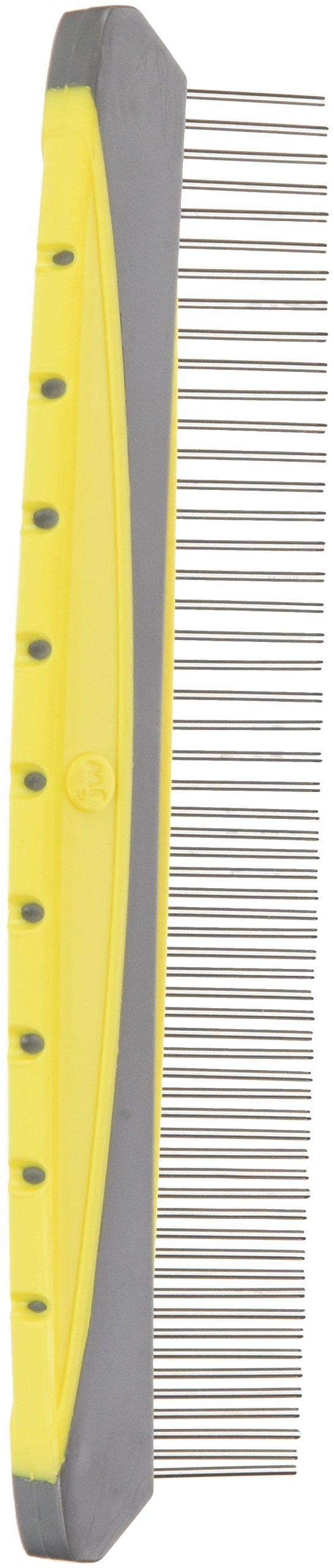 JW Pet Company 8-Inch Gripsoft Rotating Comfort Comb, Fine and Coarse