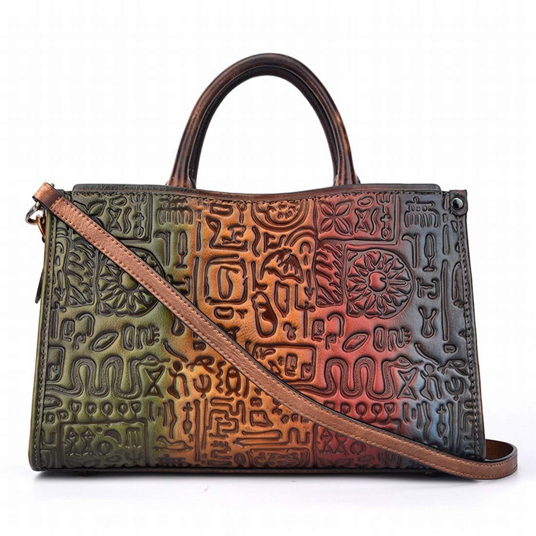 6d8ed725a658e Sixminyo Handtasche Vintage Satchel f uuml r f uuml r f uuml r Frauen PU- Leder-Umh auml ngetasche mit langem verstellbarem Gurt (Farbe braun)  B07PDGNVK8 ...