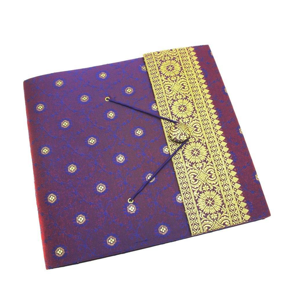 Paper High Large Photo Album Indian Sari Design 240 mm x 260 mm Purple