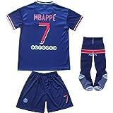 KID BOX Paris Home Football Soccer Kids Jersey Shorts Socks Set Youth Sizes