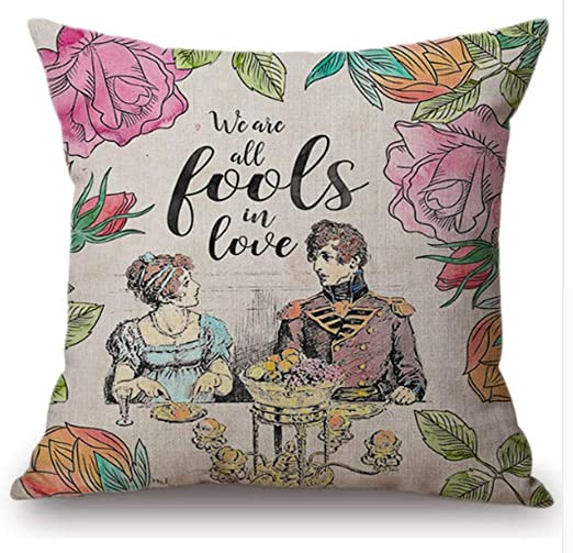 Beasthwaite Design Jane Austen - Cojín Decorativo con Cita ...