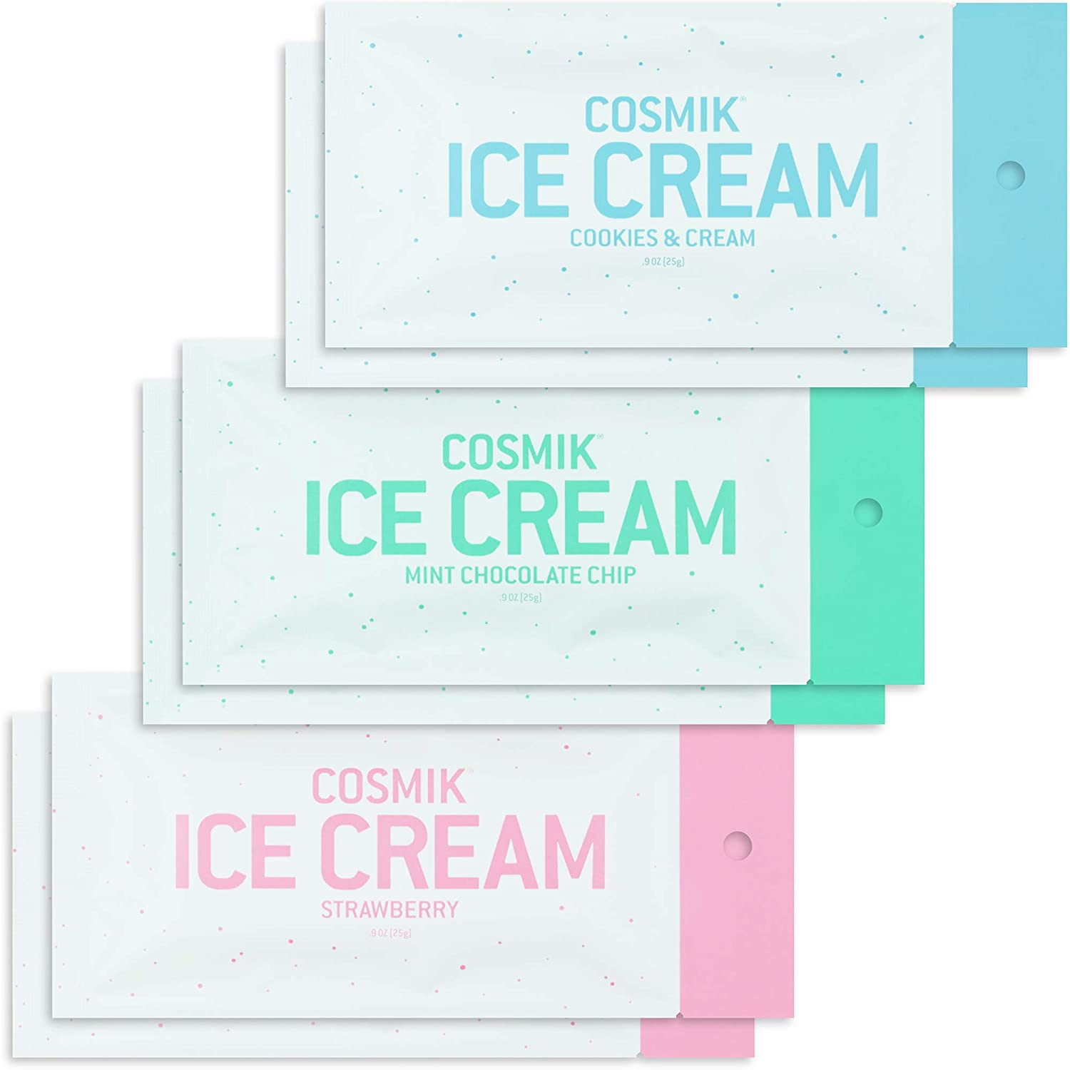 Cosmik Freeze Dried Ice Cream 6 Pack Variety, Astronaut Space Food