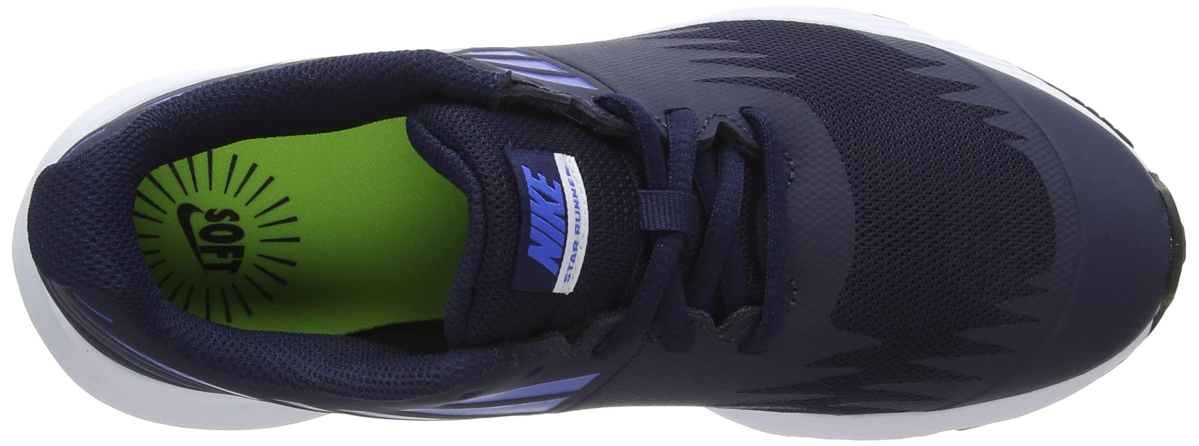 Nike Boy's Star Runner (GS) Running Shoe Obsidian/Metallic Silver/Signal Blue Size 3.5 M US by Nike (Image #7)