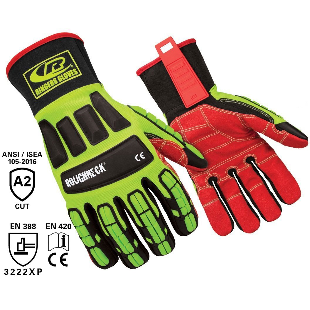 Ringers Gloves R-263 Roughneck LS Heavy Duty Impact Glove Small 263-08 CE Level 2 Cut Protection Limited Slip Grip System