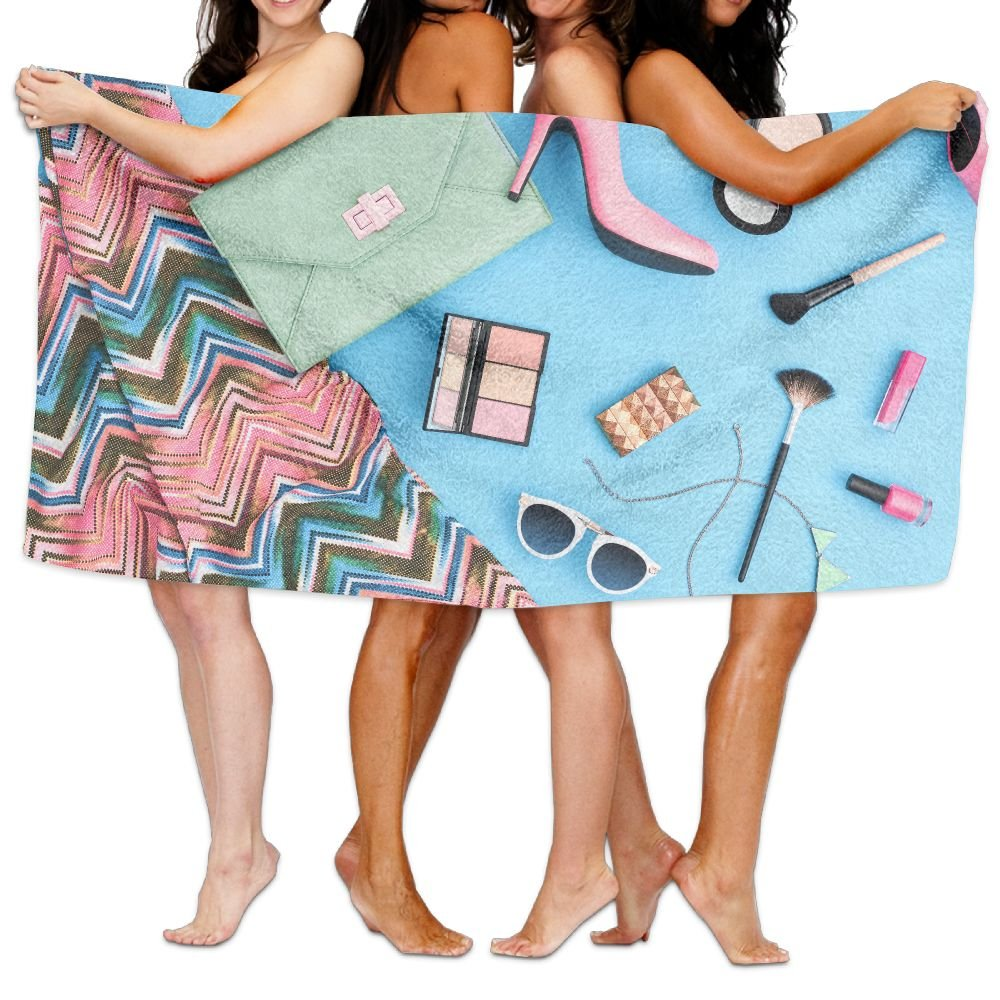 f11c5871782d Amazon.com  Wxf Summer Urban Summer Girl Colorful Outfit Summer Fashion  Stylish Clothes Cosmetics Makeup Soft Absorbent Beach Towel Pool Towel  30x50  Home   ...
