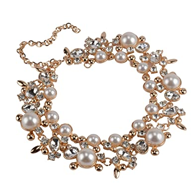 ea5b5b0956403 Statement Necklace for Women Novelty Jewelry White with Gift Box ...
