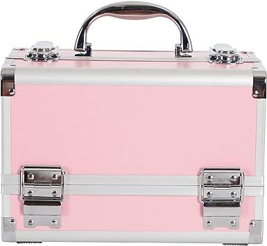 Estuche de Maquillaje, Caja de Almacenamiento con Espejo para Guardar Joyas con Tren, con Cerradura: Amazon.es: Equipaje