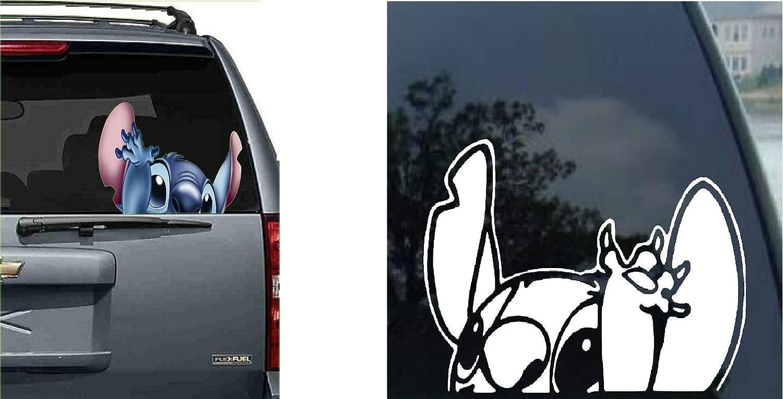 motocicleta Lilo Stitch calcoman/ía para ventana de coche SUV cami/ón