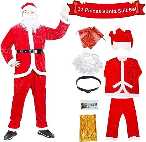 C-Oral Disfraz de Papá Noel para Adulto (11 Piezas), Costume Santa ...