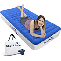 EnerPlex Never Leak Luxury Air Mattress Airbed with Wireless Pump Raised Single High Blow Up Bed for Home Camping Travel 2-Year Warranty