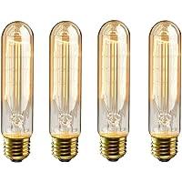 4-Pack KingSo 60-watt Vintage Edison Tubular Bulbs for Home and Commercial Light Fixtures