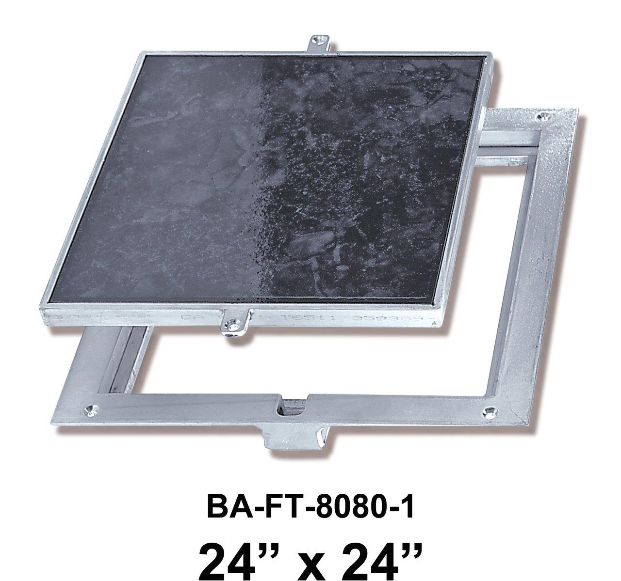 24'' x 24'' Removeable Floor Door - 1'' Recess for Ceramic Tile / Concrete