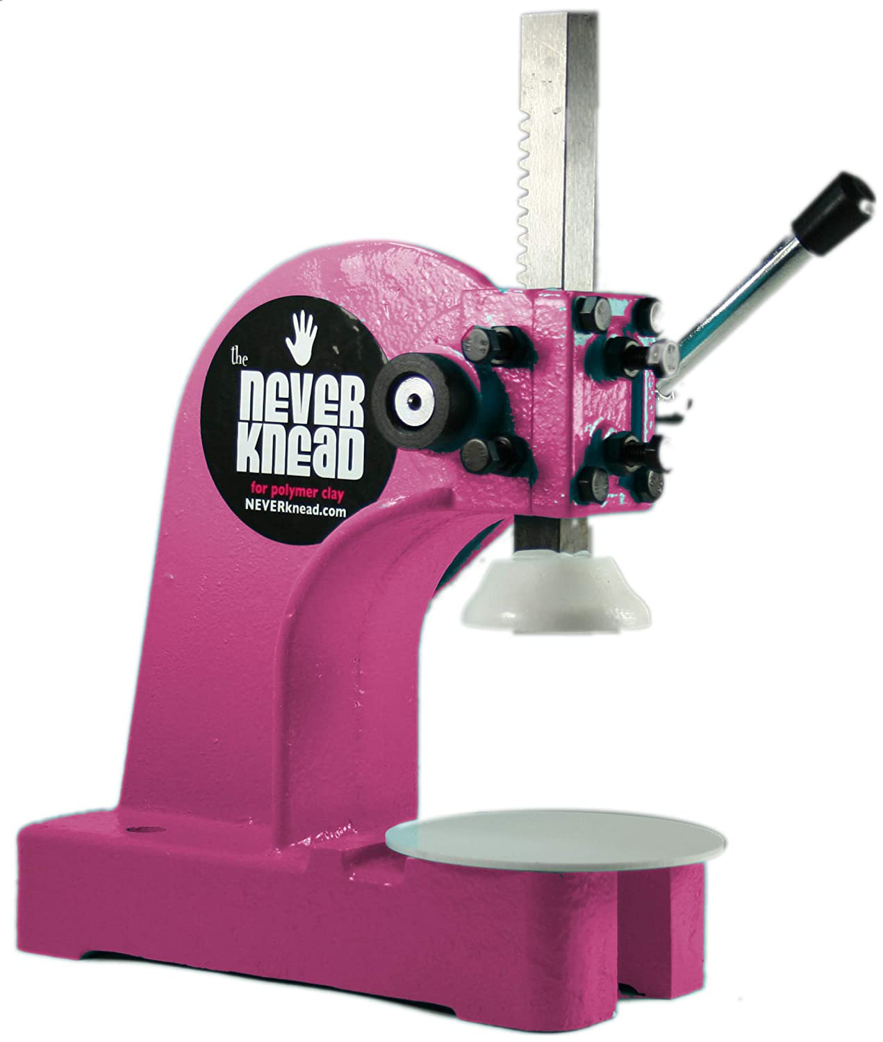 Hot Pink NEVERknead Polymer Clay Kneader Tool NEW - a Revolution in Clay Production for Artists - works with Sculpey Fimo & More EASY! Debra Ann of Atomic Mobiles NKVER1