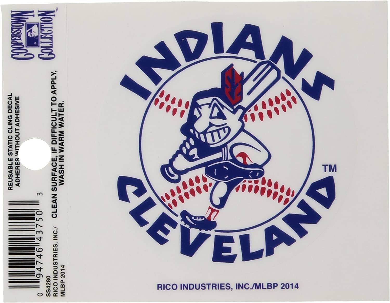 Cleveland Indians Chief Wahoo Baseball Decal Diecut Sticker Self Adhesive Vinyl