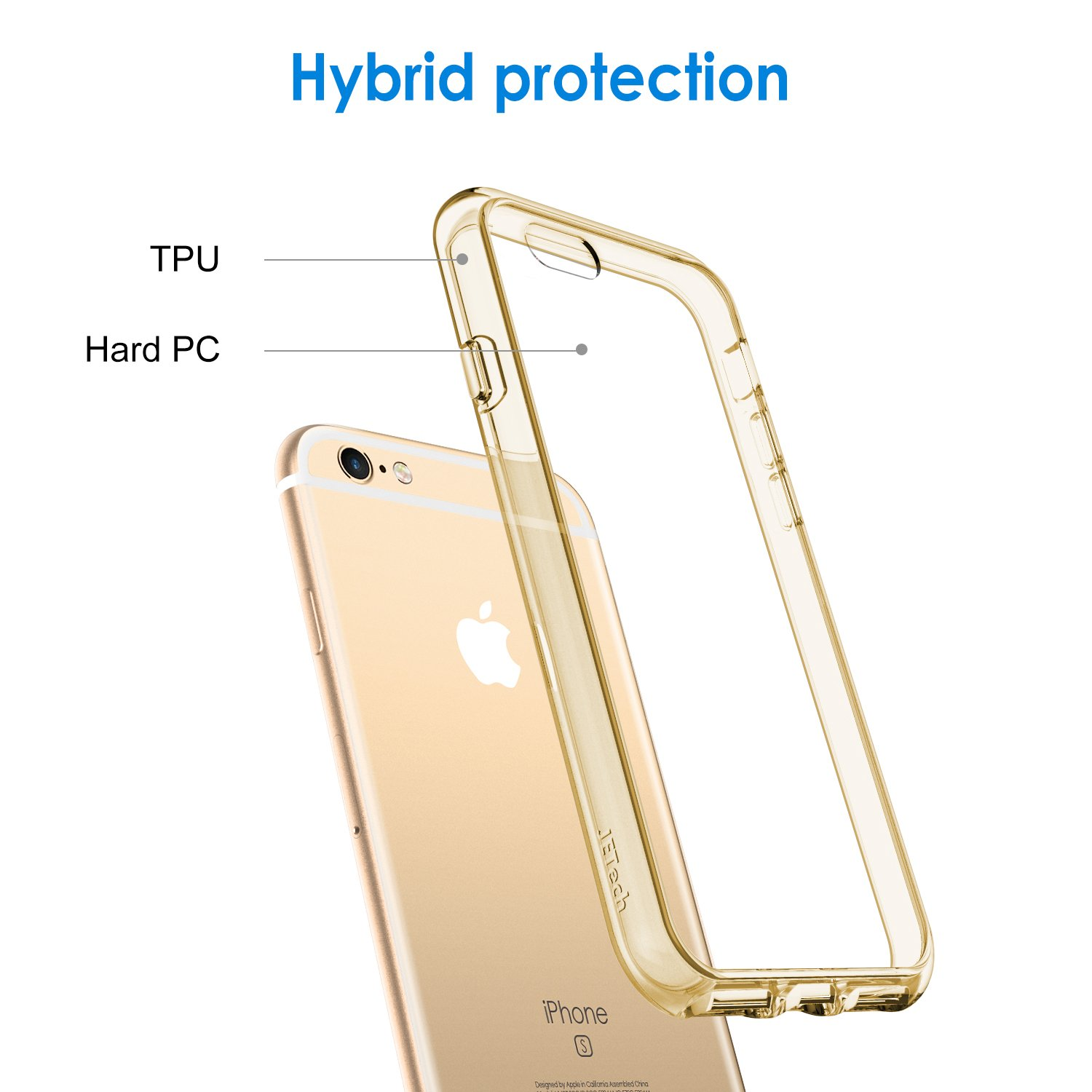 Shock-Absorption Bumper Cover Anti-Scratch Clear Back JETech Case for Apple iPhone 6 Plus and iPhone 6s Plus 5.5-Inch HD Clear