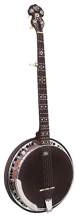 Barnes & Mullins BJ400E Rathbone Electric 5 String Banjo with Black Remo  Head