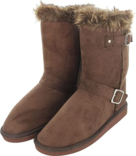 1ed1285acc210 Image Unavailable. Image not available for. Color: Womens Fur Mid Calf Boots  ...