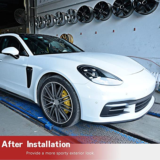 Amazon.com: Jcsportline fits Porsche Panamera 2017-2018 Carbon Fiber Replacement Side Air Vent Fender Trims: Automotive
