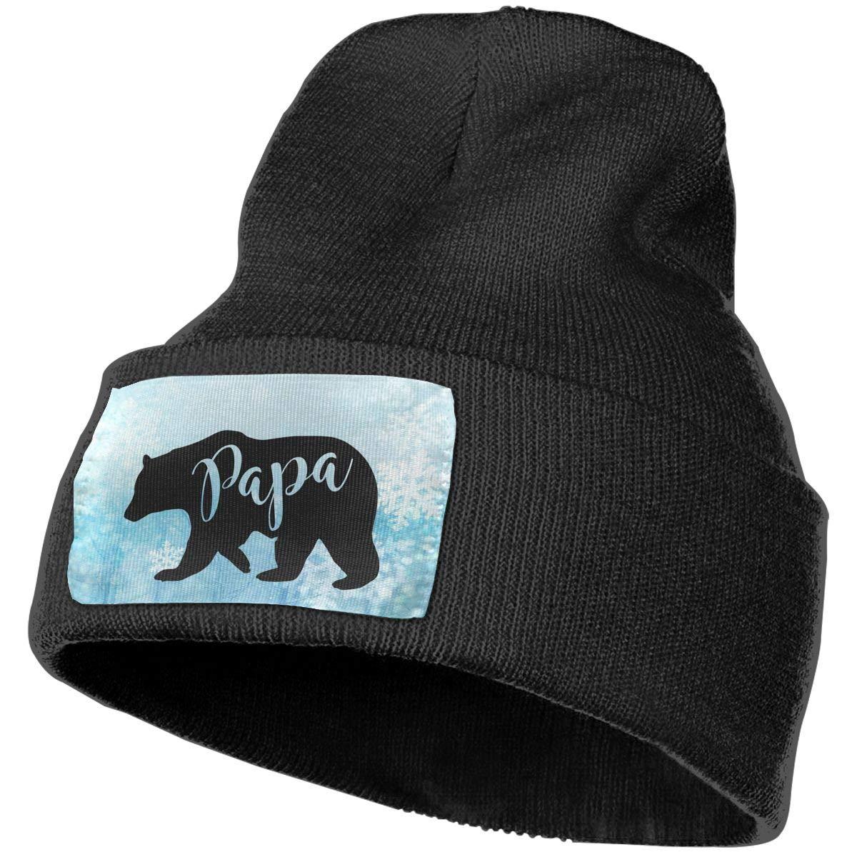 Papa Bear Winter Beanie Hat Knit Skull Cap for for Men /& Women