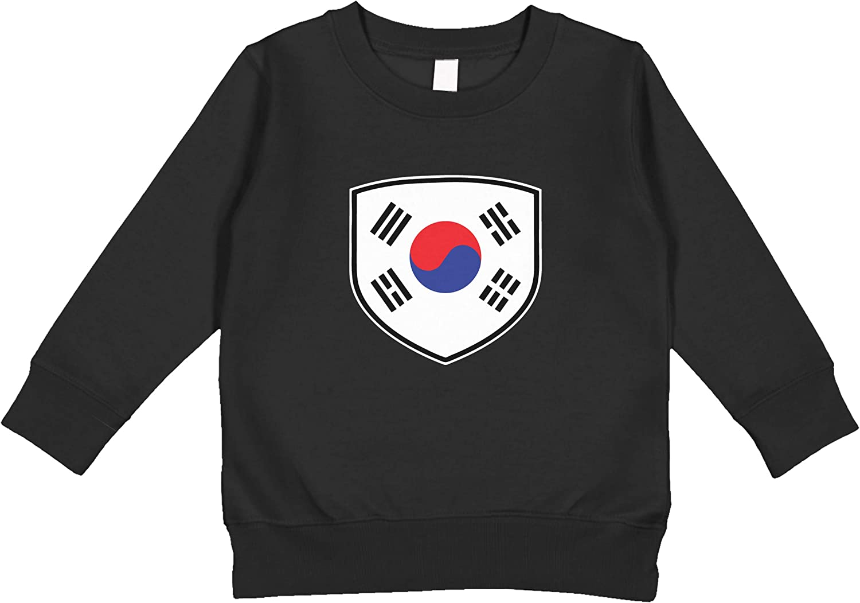 Amdesco South Korea Shield Korean Flag Toddler Sweatshirt