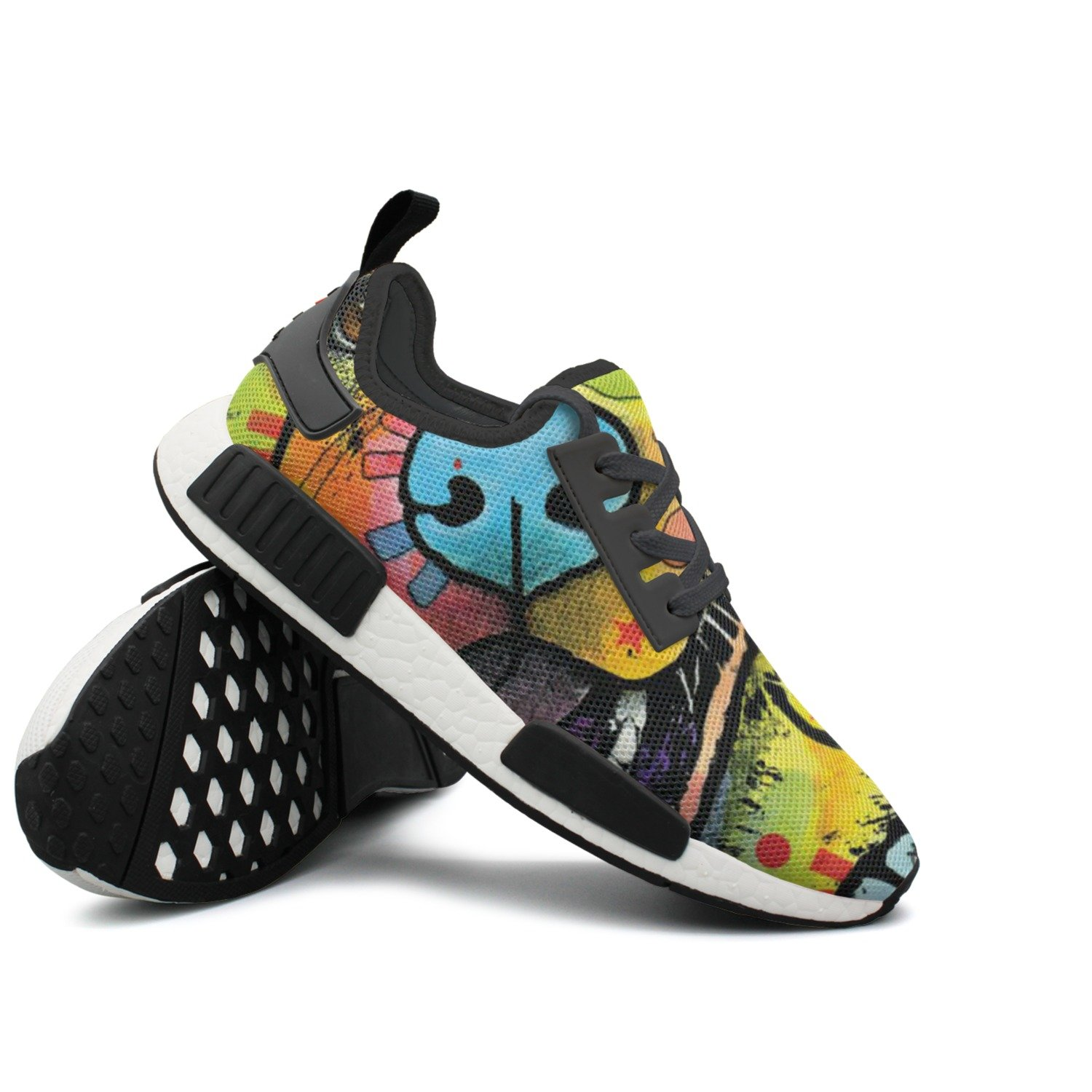 CVOIREWKLL Summer Up Cute Skull Cheese Hot Dog Wear-resistant Classic Stylish Print Sneaker Shoes