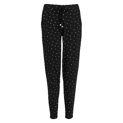 next Pantalon De Jogging En Jersey Femme Noir Imprimé EU 34 (UK 6)