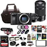 Sony Alpha a6500 Digital Camera w/SELP1650 16-50mm & SEL55210B 55-210 Zoom Lenses & Rode Video Mic GO Bundle