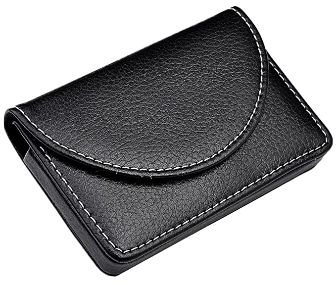 Ayliss business card holder top stainless steel leather magnetic ayliss business card holder top stainless steel leather magnetic shut card case black colourmoves