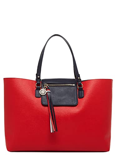 b5f0704c6e0 TOMMY HILFIGER Love Tommy Reversible Tote Red / Navy: Amazon.co.uk: Shoes &  Bags