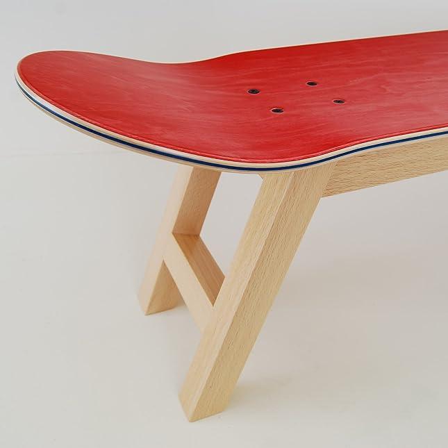 skateboard bett tablett schlafzimmer hocker dekoration natur rot amazonde kche haushalt - Skateboard Bank Beine