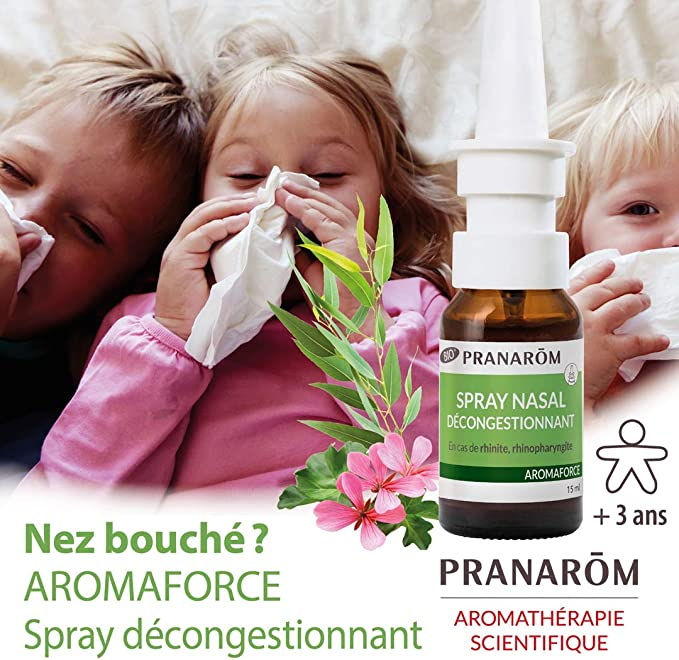 PRANAROM AROMAFORCE DESPEJAR NARIZ SPRAY 15 ML: Amazon.es: Salud y ...