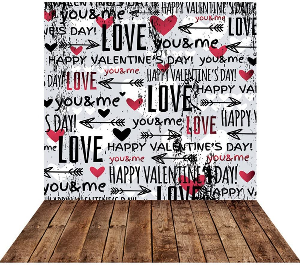 15x10ft Black and White Board Photography Backdrop Valentines Day Love Photo Background Props HXFU012