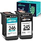 HibiTon Remanufactured Ink Cartridge Replacement for Canon PG-245 CL-246 PG-243 CL-244 Work with Pixma TR4520 TR4527 MG2520 M