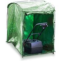 Relaxdays Garaje para cortadora de césped 10019001-Garaje, Verde