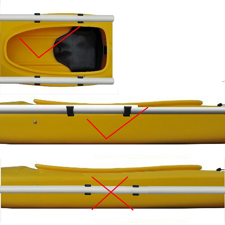 YYST 4 PCS Kayak paddle clip paddle holder paddle keeper VERTICAL MOUNTED NO SIDE MOUNTED