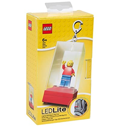 LEGO - LED Lighted Minifigure Keychain Display Case - Red