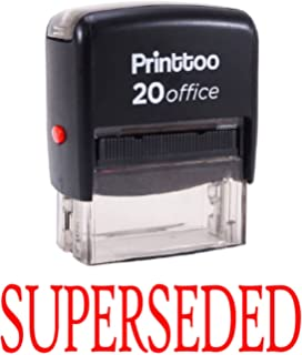 SUPERSEDED Self Inking Rubber Office Stationary Custom Shiny StampSHINY-E196A