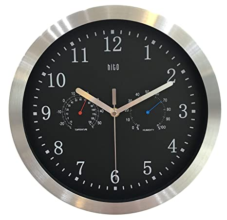 Free Shipping hito Silent Wall Clock Non Ticking 14 inch Large Oversized Date..