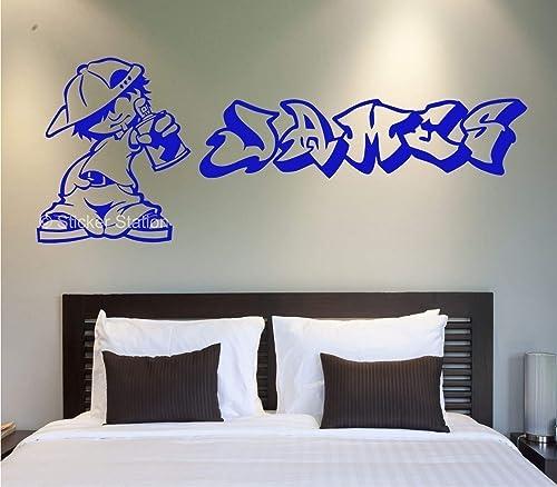 Site De Construction Personnalisé Nom Autocollant Mural Enfants Art Autocollant Enfants Chambre à coucher