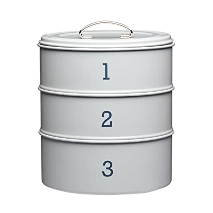 Living Nostalgia - Juego de 3 Cajas metálicas apilables para almacenaje de Alimentos (27 cm