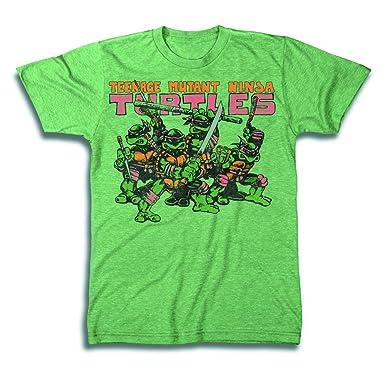 Teenage Mutant Ninja Turtles grupo Logo para hombre verde ...